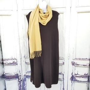Eileen Fisher Large Brown Dress Tank Career